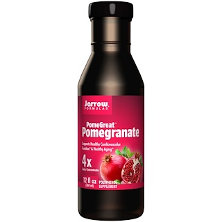 Jarrow Formulas, PomeGreat, Granada, Jugo 4 veces Concentrado, 12 fl oz (360 ml)