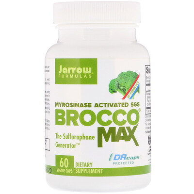 Jarrow Formulas BroccoMax, активированный мирозиназой SGS, 60 растительных капсул