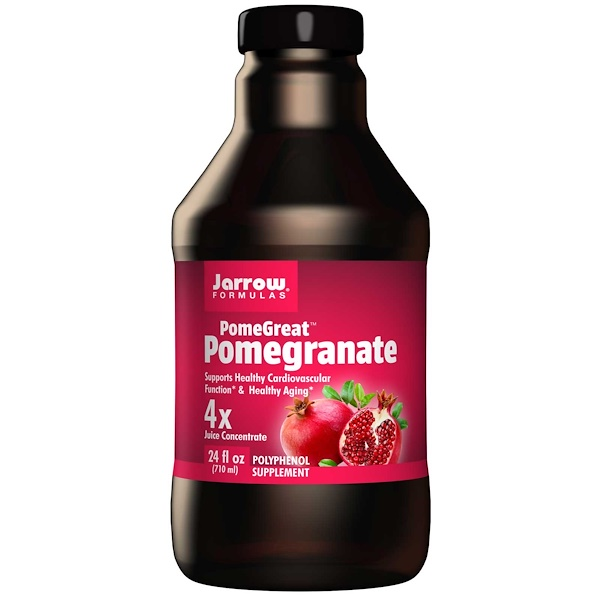 Jarrow Formulas, PomeGreat, Pomegranate, 4x Juice Concentrate, 24 fl oz (710 ml) (Discontinued Item)