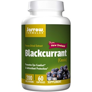 Jarrow Formulas, Blackcurrant, 200 mg, 60 Veggie Caps
