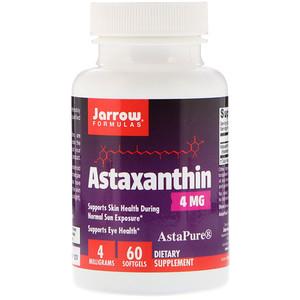 джэрроу формулас, Astaxanthin, 4 mg, 60 Softgels отзывы