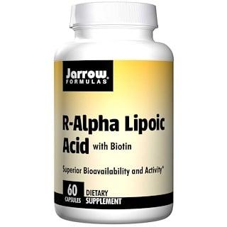 Jarrow Formulas, ácido alfa lipoico-r, con biotina, 60 cápsulas