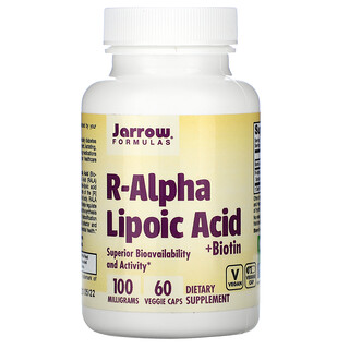 Jarrow Formulas, R-Alpha Lipoic Acid + Biotin, 60 Veggie Caps