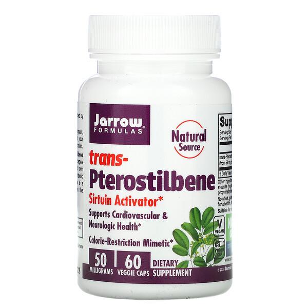 Jarrow Formulas, Trans-Pterostilbene, 50 mg, 60 Veggie Caps