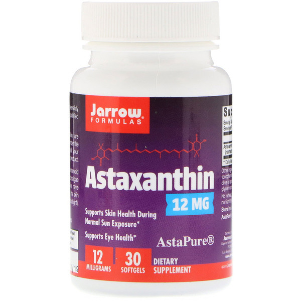 Jarrow Formulas, Astaxanthin, 12 mg, 30 Softgels