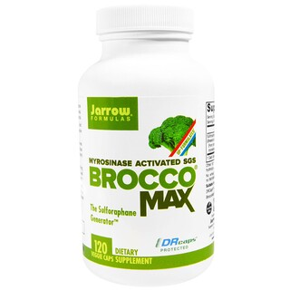 Jarrow Formulas, BroccoMax, Myrosinase Activated, 120 Veggie Caps