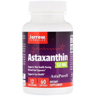 Jarrow Formulas, Astaxanthin, 12 mg, 60 Softgels