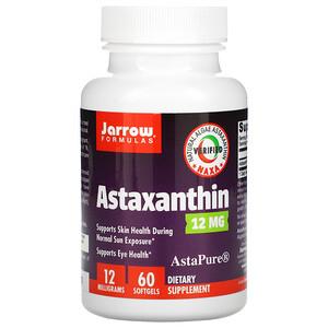 джэрроу формулас, Astaxanthin, 12 mg, 60 Softgels отзывы