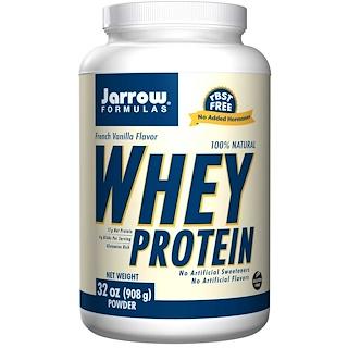 Jarrow Formulas, 100% Natural Whey Protein, French Vanilla Flavor, 32 oz (908 g)