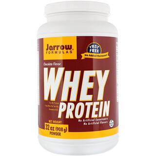 Jarrow Formulas, 100% 내추럴 웨이 프로틴, 초콜릿, 32 oz (908 g) 파우더