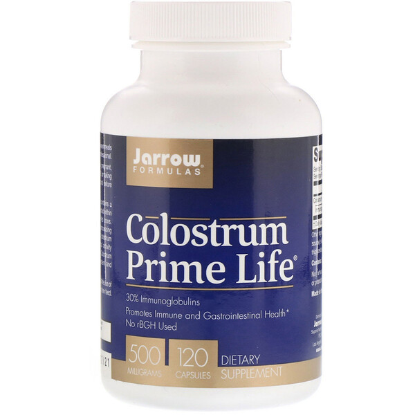 Jarrow Formulas, Colostrum, 500 mg, 120 Gélules