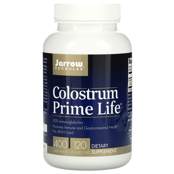 Jarrow Formulas, Colostrum Prime Life, 400 mg, 120 Veggie Caps