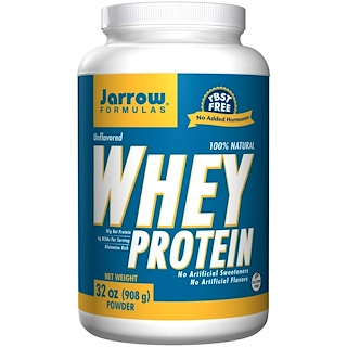 Jarrow Formulas, 100% Natural Whey Protein, 무맛, 32 oz (908 g)