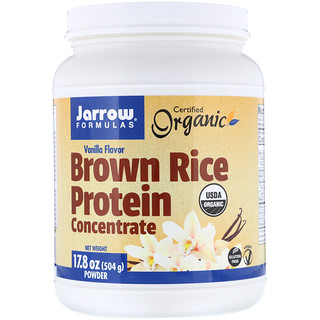 Jarrow Formulas, Organic Brown Rice Protein Concentrate, Vanilla Flavor, 17.8 oz (504 g) Powder