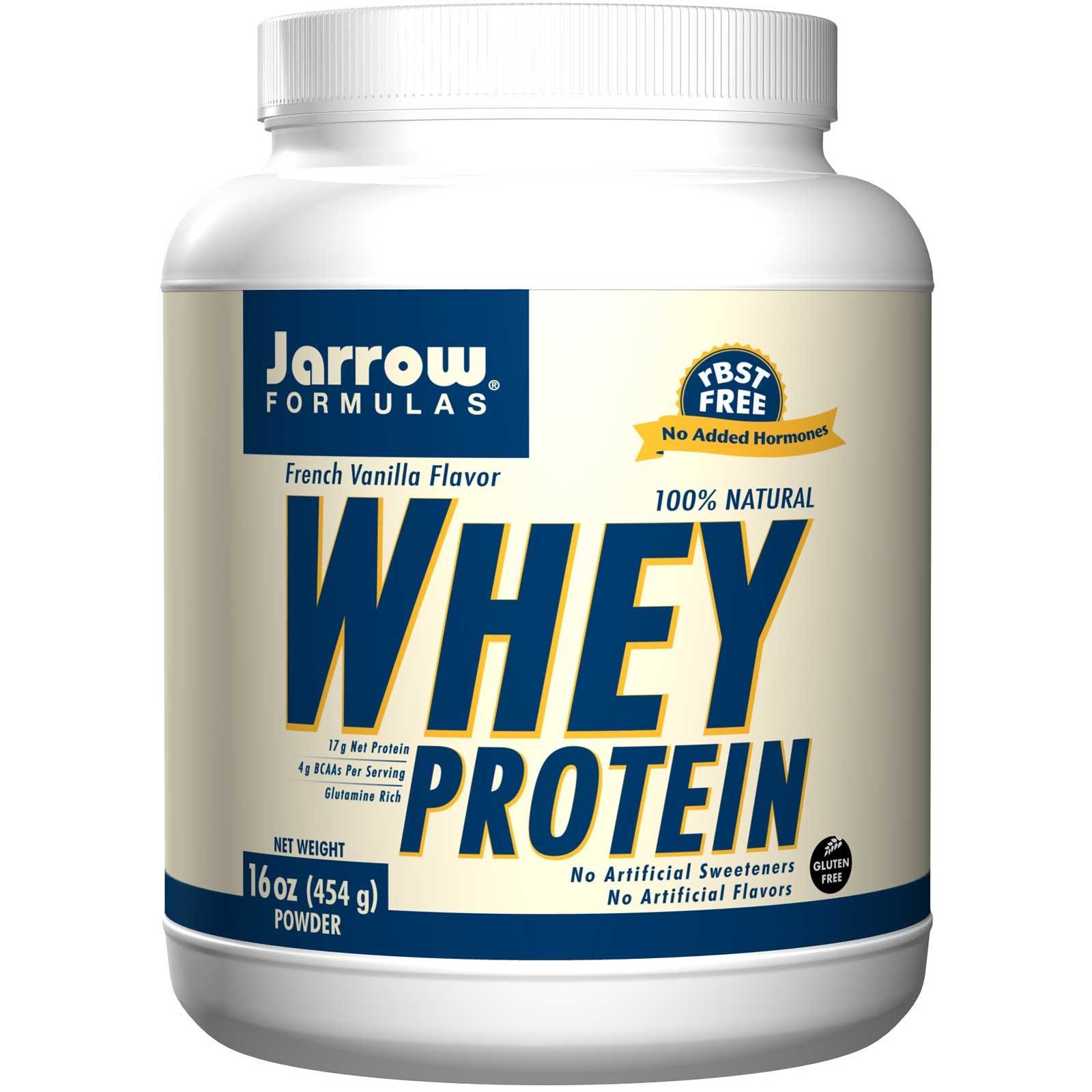 Jarrow Formulas, 100% Натуральный Сывороточный Протеин в Ультрафильтрованном Порошке со Вкусом Французской Ванили, 16 унций (454 г)