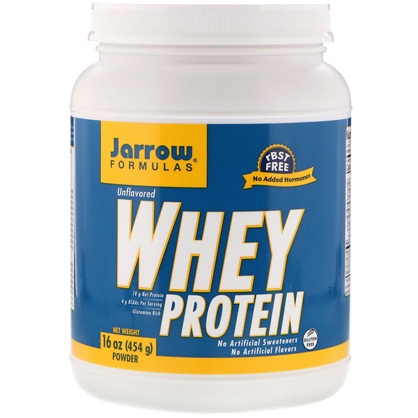 Jarrow Formulas, Whey Protein Powder, Unflavored, 16 oz (454 g)