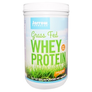 Jarrow Formulas, Grass Fed Whey Protein, Unflavored, 12.7 oz (360 g)