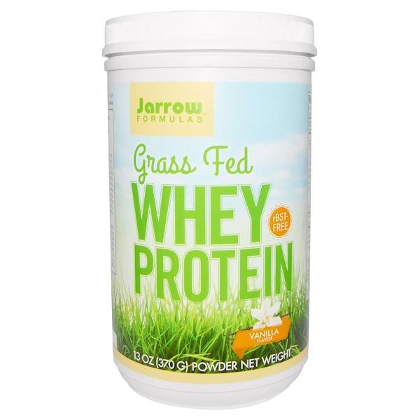 Jarrow Formulas, Grass Fed Whey Protein, Vanilla Flavor, 13 oz (370 g)