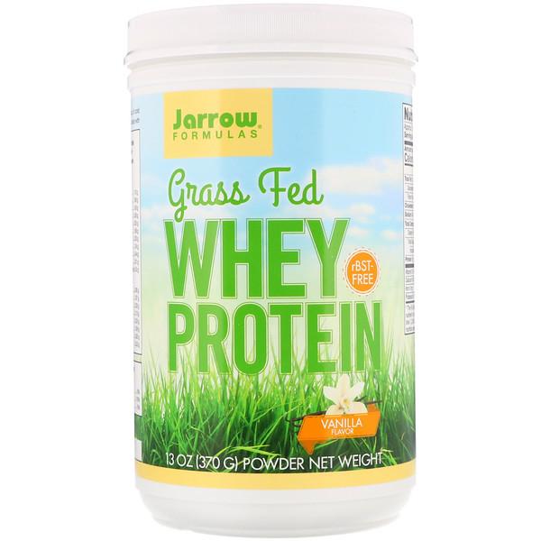 Grass Fed Whey Protein, Vanilla Flavor, 13 oz (370 g)
