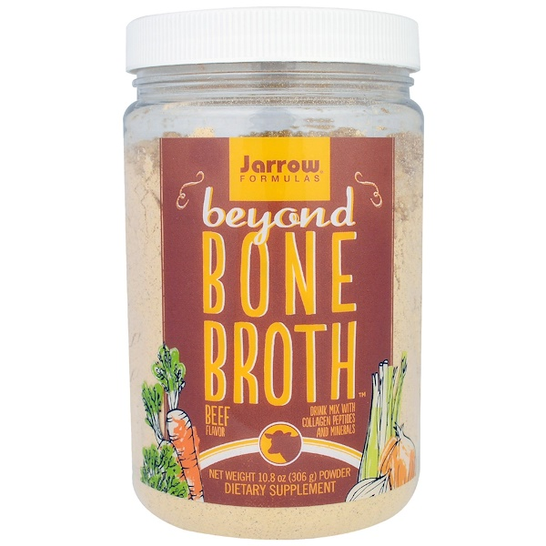 Jarrow Formulas, Beyond Bone Broth,牛肉味,10、8盎司(306克)