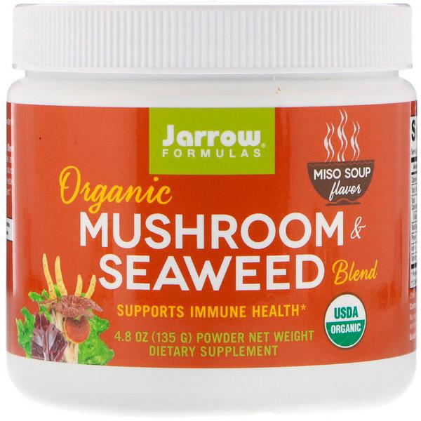 Jarrow Formulas, مزيج المشروم وطحالب البحر العضوي، نكهة حساء الميزو، 4.8 أونصة (135 جم) (Discontinued Item)
