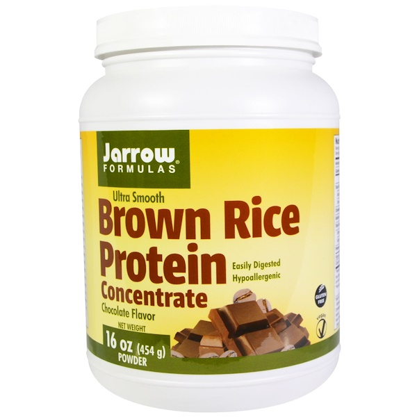 Jarrow Formulas, Ultra Smooth, Brown Rice Protein Concentrate, Chocolate Flavor, 16 oz (454 g) (Discontinued Item)