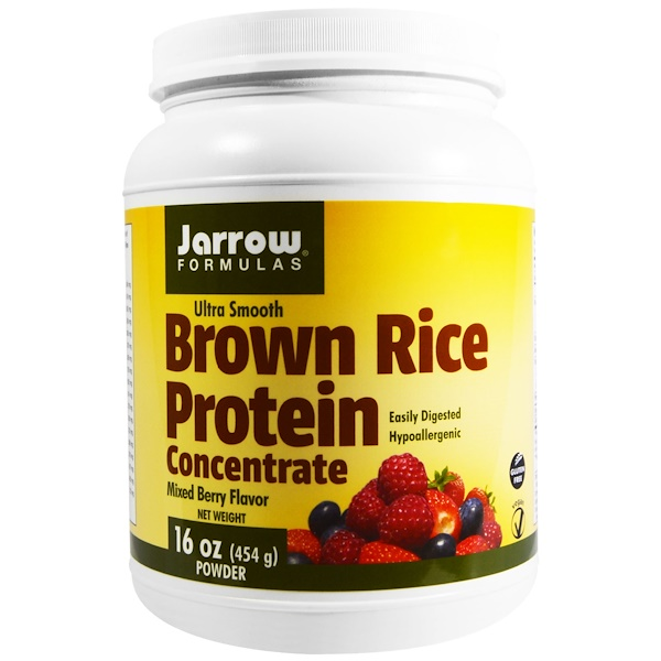 Jarrow Formulas, Ultra Smooth, Brown Rice Protein, Mixed Berry Flavor, 16 oz (454 g) Powder (Discontinued Item)