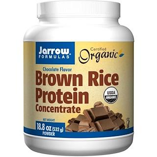 Jarrow Formulas, Organic, Brown Rice Protein Concentrate, Chocolate Flavor, Powder, 18.8 oz (532 g)