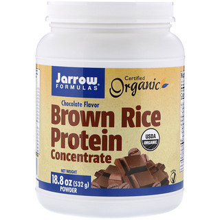 Jarrow Formulas, Organic, Brown Rice Protein Concentrate, Chocolate, 18.8 oz (532 g)