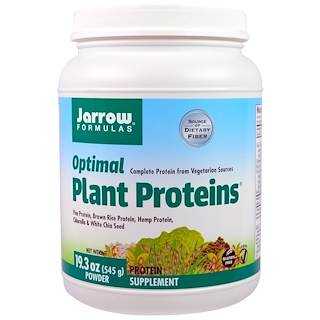 Jarrow Formulas, Optimal Plant Proteins, Powder, 19.3 oz (545 g)