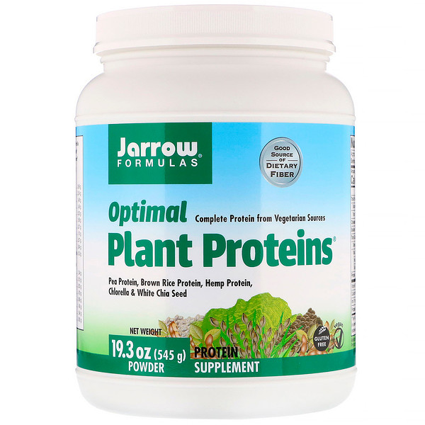 Jarrow Formulas, Optimal Plant Proteins, Powder, 19.3 oz (545 g)