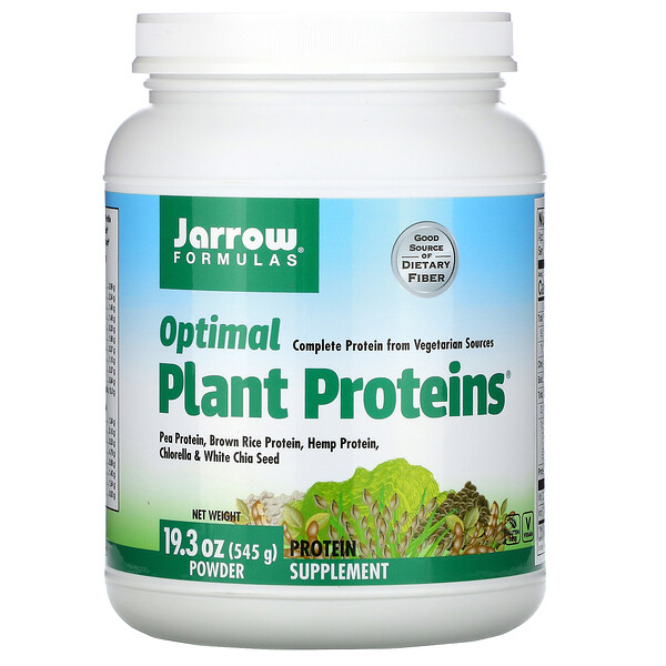 Jarrow Formulas, Optimal Plant Proteins Powder, 19.3 oz (545 g)