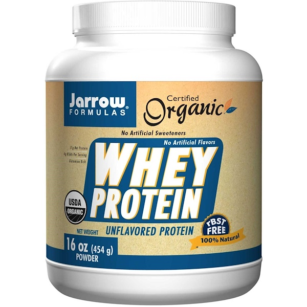 Jarrow Formulas, Organic Whey Protein, Unflavored, Powder, 16 oz (454 g) (Discontinued Item)