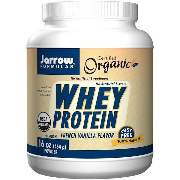 Jarrow Formulas, Organic Whey Protein, Powder, French Vanilla Flavor, 16 oz (454 g) (Discontinued Item)
