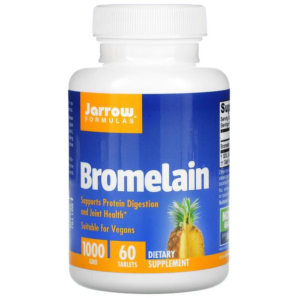 Бромелаин 1000, 500 мг, 60 легко растворяющихся таблеток