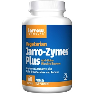 Jarrow Formulas, Jarro-Zymes Plus, вегетарианский, 60 капсул