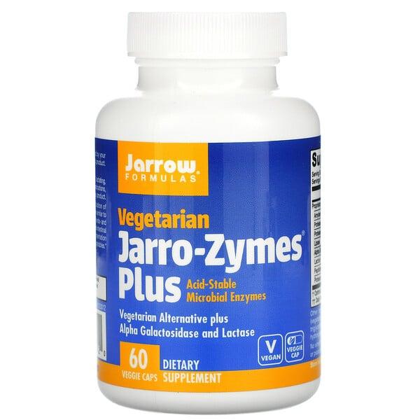 Jarro-Zymes Plus, Végétarien, 60capsules végétariennes