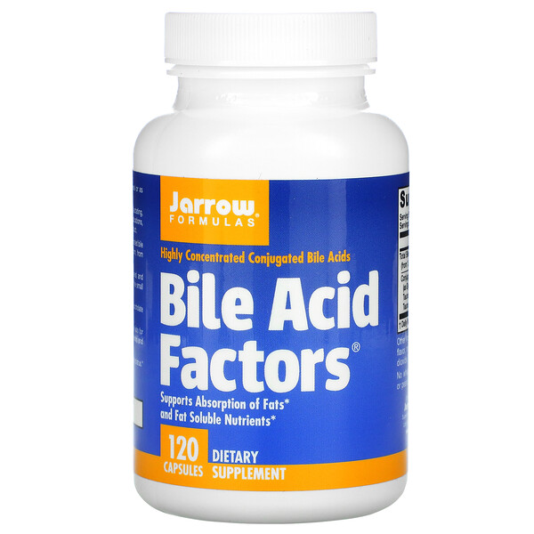 Jarrow Formulas, Bile Acid Factors(胆汁酸ファクター)、カプセル120粒