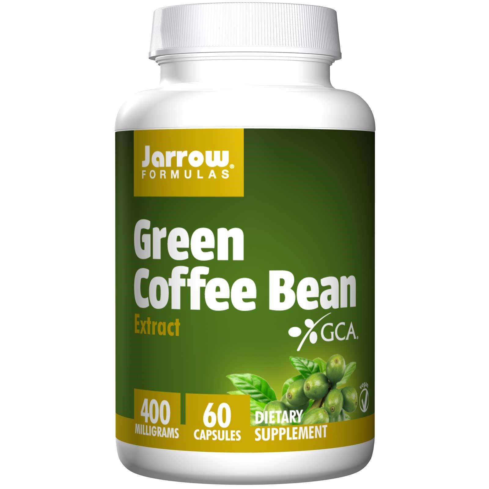 Jarrow Formulas, Экстракт зелёных кофейных зёрен, 60 овощных капсул