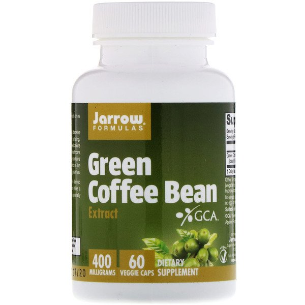 Green Coffee Bean Extract, 400 mg, 60 Veggie Caps