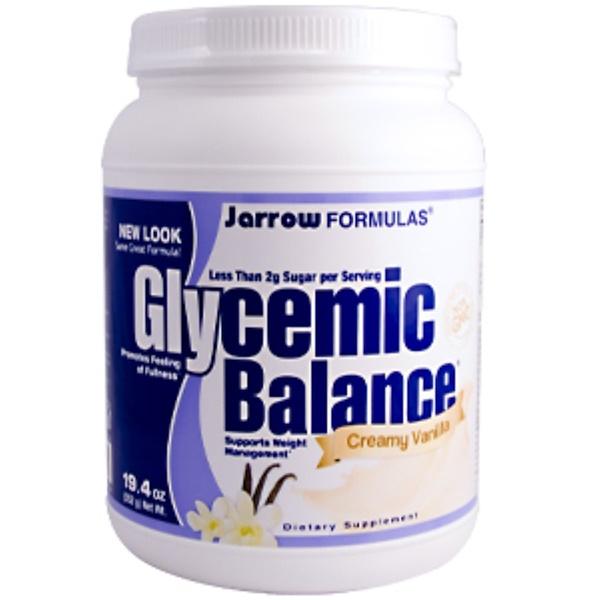 Jarrow Formulas, Glycemic Balance, Creamy Vanilla, 19.4 oz (552 g) (Discontinued Item)