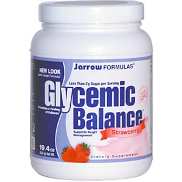 Jarrow Formulas, Glycemic Balance, Strawberry, 19.4 oz (552 g) (Discontinued Item)