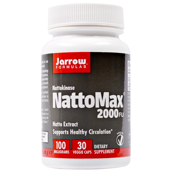 Jarrow Formulas, NattoMax 2000 FU, 100 mg, 30 Veggie Caps (Discontinued Item)