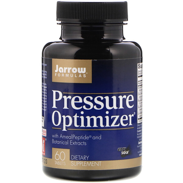 Jarrow Formulas, Pressure Optimizer, 60 Comprimidos