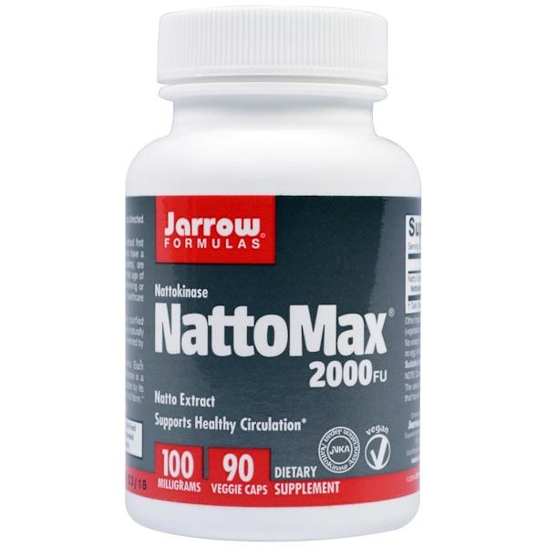 Jarrow Formulas, NattoMax 2000 FU, 100 mg, 90 素食膠囊