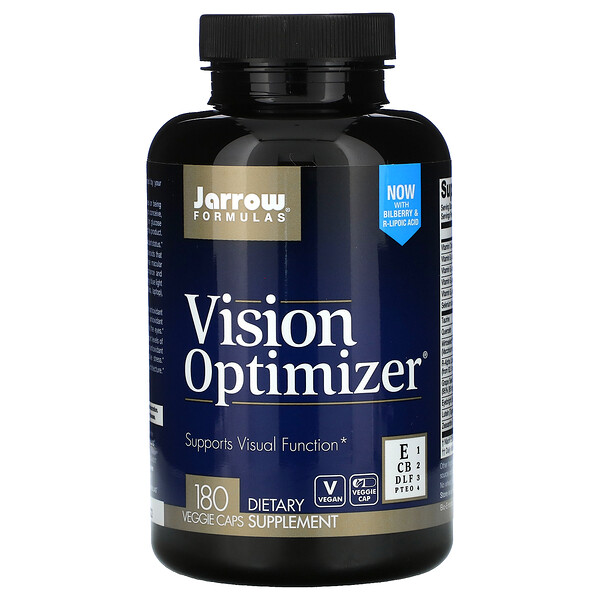 Jarrow Formulas, Vision Optimizer, 180 cápsulas vegetales