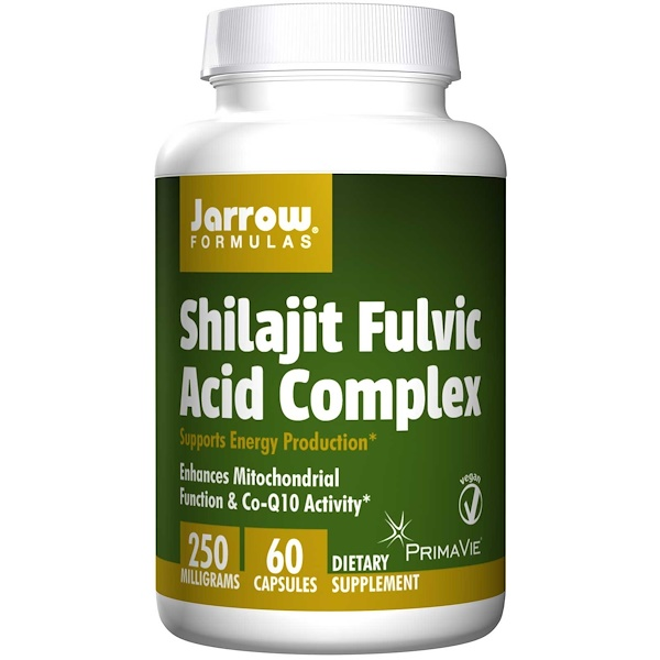 Jarrow Formulas, Shilajit Fulvic Acid Complex, 60 Veggie Caps