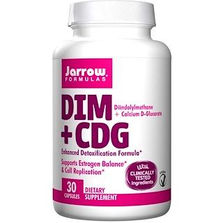 Jarrow Formulas, DIM + CDG、強化された解毒フォーミュラ、30ベジカプセル