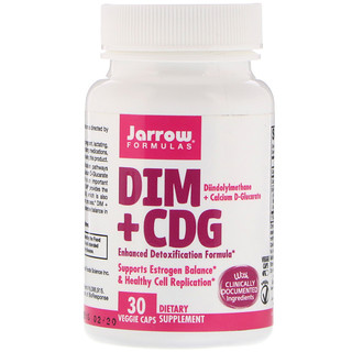 Jarrow Formulas, DIM + CDG, Enhanced Detoxification Formula, 30 Veggie Caps