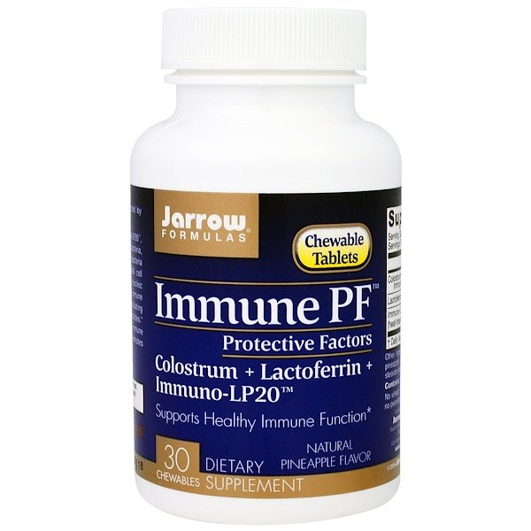 Jarrow Formulas, Immune PF, Natural Pineapple Flavor , 30 Chewables (Discontinued Item)
